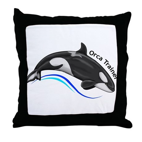 Orca Trainer Throw Pillow