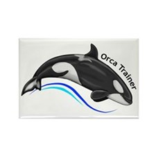 Orca Trainer Rectangle Magnet