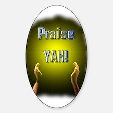 Praise YAH! Oval Decal