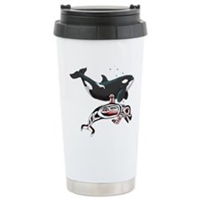 Northwest Tribal Orcas Travel Mug