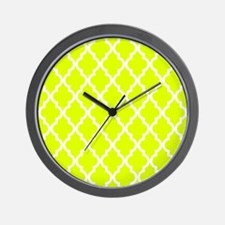 Chartreuse Moroccan Pattern Wall Clock