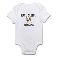 Eat ... Sleep ... CHICKENS Infant Bodysuit