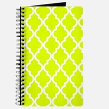 Chartreuse Moroccan Pattern Journal