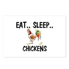 Eat ... Sleep ... CHICKENS Postcards (Package of 8