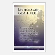 Life Begins with Gratitude Postcards (Package of 8