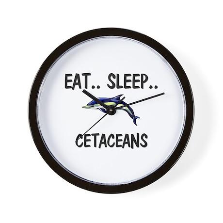 Eat ... Sleep ... CETACEANS Wall Clock