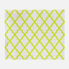 Chartreuse Moroccan Pattern (Reverse Throw Blanket