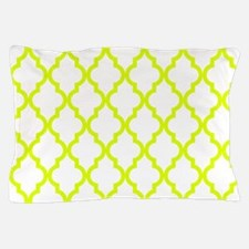Chartreuse Moroccan Pattern (Reverse) Pillow Case
