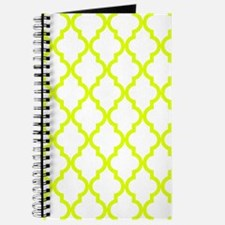 Chartreuse Moroccan Pattern (Reverse) Journal