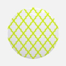 Chartreuse Moroccan Pattern (Revers Round Ornament
