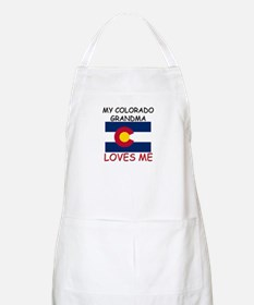 My Colorado Grandma Loves Me BBQ Apron