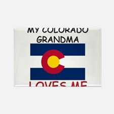 My Colorado Grandma Loves Me Rectangle Magnet