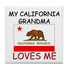 My California Grandma Loves Me Tile Coaster