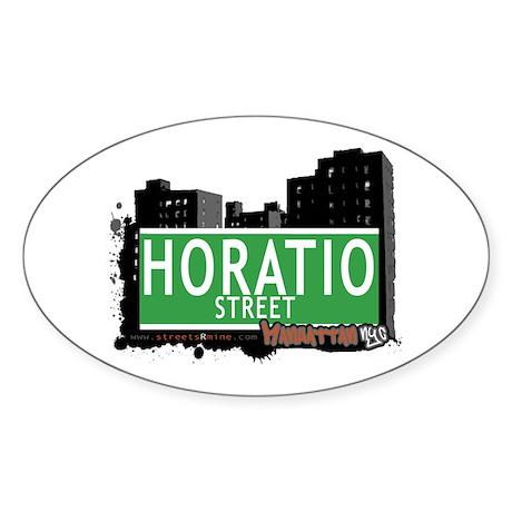 HORATIO STREET, MANHATTAN, NYC Sticker (Oval 50 pk