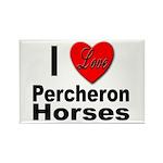 I Love Percheron Horses Rectangle Magnet (10 pack)