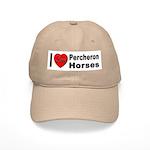 I Love Percheron Horses Cap