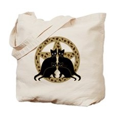 Animal Print Pentagram Tote Bag
