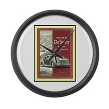 """""""1947 DeSoto Ad"""" Large Wall Clock"""