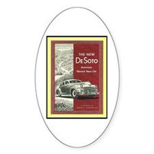 """""""1947 DeSoto Ad"""" Oval Decal"""