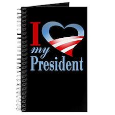 I Heart My President Journal (black)