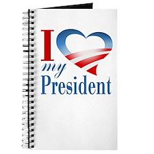 I Heart My President Journal (white)
