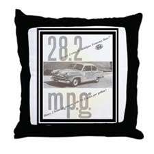 """1953 Henry J Ad"" Throw Pillow"