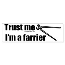 Trust me I'm a farrier Car Sticker