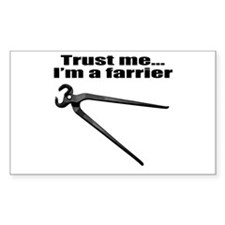Trust me I'm a farrier Decal