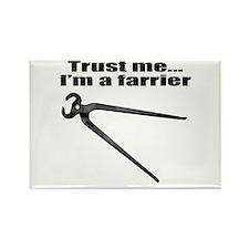 Trust me I'm a farrier Rectangle Magnet