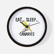 Eat ... Sleep ... CANARIES Wall Clock