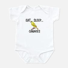 Eat ... Sleep ... CANARIES Infant Bodysuit