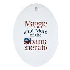 Maggie - Obama Generation Oval Ornament