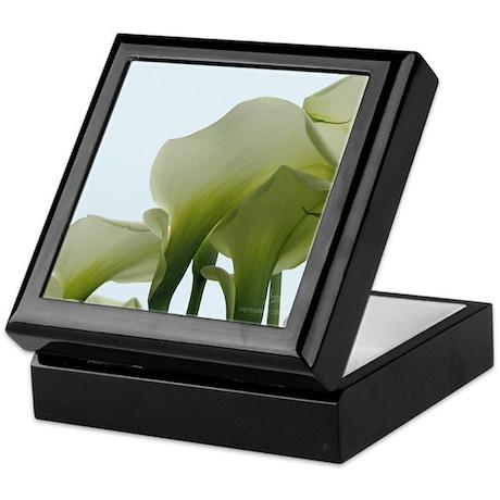 White Calla Lilies Keepsake Box