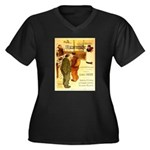 l'Escarmouche Women's Plus Size V-Neck Dark T-Shir