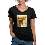 l'Escarmouche Women's V-Neck Dark T-Shirt