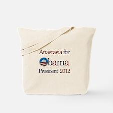 Anastasia for Obama 2012 Tote Bag