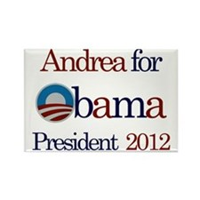 Andrea for Obama 2012 Rectangle Magnet