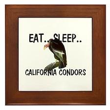 Eat ... Sleep ... CALIFORNIA CONDORS Framed Tile