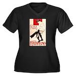 Femminismo Women's Plus Size V-Neck Dark T-Shirt