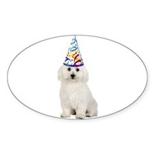 Bichon Frise Party Oval Decal