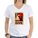 Give Women's V-Neck T-Shirt
