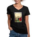 Grand Parisy Women's V-Neck Dark T-Shirt
