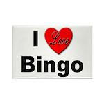 I Love Bingo Rectangle Magnet (10 pack)