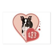 BFF Boston Terrier Postcards (Package of 8)