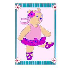 Ballerina Bear Postcards (Package of 8)