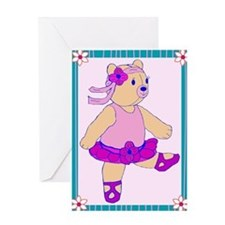 Ballerina Bear Greeting Card