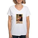 Moretti Birra Friulana Women's V-Neck T-Shirt