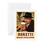 Moretti Birra Friulana Greeting Cards (Pk of 10)