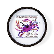 Crab #2 Hurricane Wilma Wall Clock