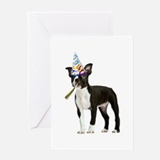 Boston Terrier Party Greeting Card